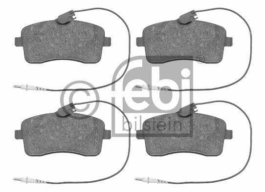 Kit de plaquettes de frein, frein à disque - FEBI BILSTEIN - 16547