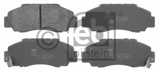 Kit de plaquettes de frein, frein à disque - FEBI BILSTEIN - 16551