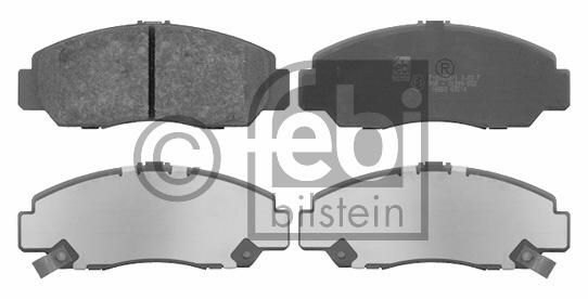 Kit de plaquettes de frein, frein à disque - FEBI BILSTEIN - 16553