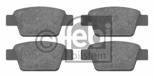 Kit de plaquettes de frein, frein à disque - FEBI BILSTEIN - 16556