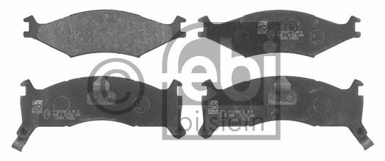 Kit de plaquettes de frein, frein à disque - FEBI BILSTEIN - 16558