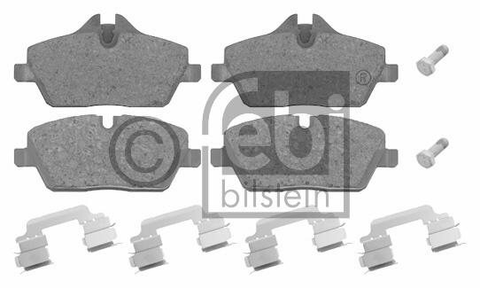 Kit de plaquettes de frein, frein à disque - FEBI BILSTEIN - 16559