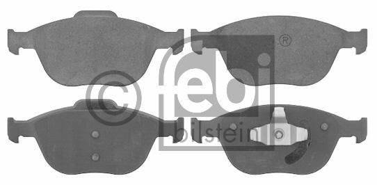 Kit de plaquettes de frein, frein à disque - FEBI BILSTEIN - 16570