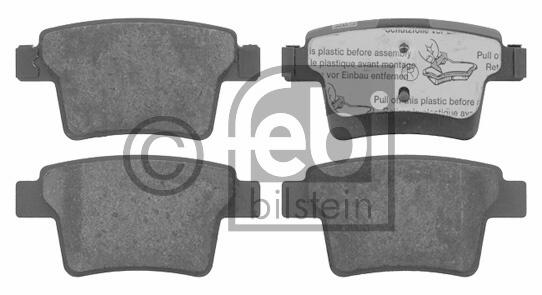 Kit de plaquettes de frein, frein à disque - FEBI BILSTEIN - 16571