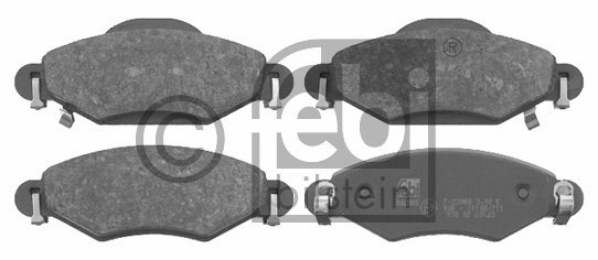 Kit de plaquettes de frein, frein à disque - FEBI BILSTEIN - 16576