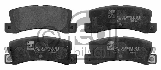 Kit de plaquettes de frein, frein à disque - FEBI BILSTEIN - 16580