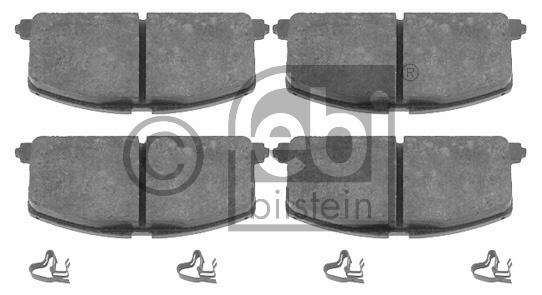 Kit de plaquettes de frein, frein à disque - FEBI BILSTEIN - 16581