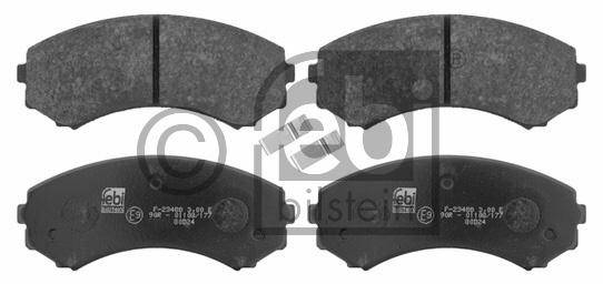Kit de plaquettes de frein, frein à disque - FEBI BILSTEIN - 16582