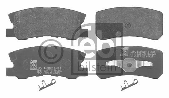 Kit de plaquettes de frein, frein à disque - FEBI BILSTEIN - 16583