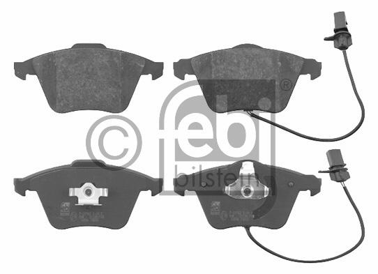 Kit de plaquettes de frein, frein à disque - FEBI BILSTEIN - 16586