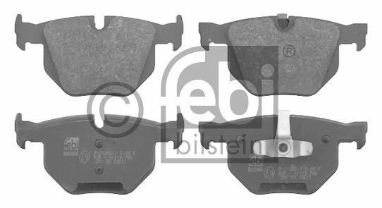 Kit de plaquettes de frein, frein à disque - FEBI BILSTEIN - 16587