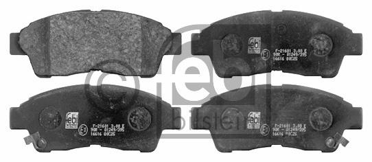 Kit de plaquettes de frein, frein à disque - FEBI BILSTEIN - 16616