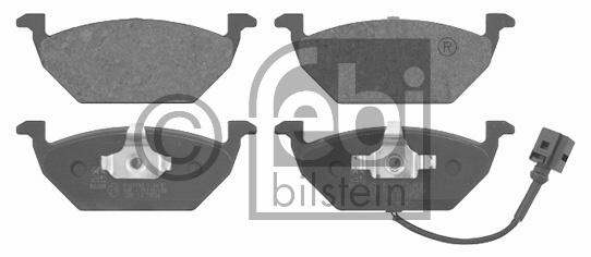 Kit de plaquettes de frein, frein à disque - FEBI BILSTEIN - 16617