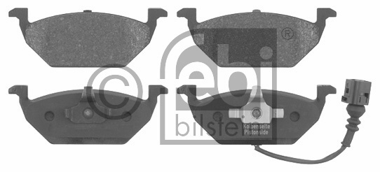 Kit de plaquettes de frein, frein à disque - FEBI BILSTEIN - 16618
