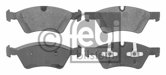 Kit de plaquettes de frein, frein à disque - FEBI BILSTEIN - 16621