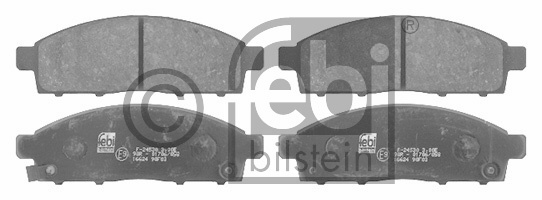 Kit de plaquettes de frein, frein à disque - FEBI BILSTEIN - 16624