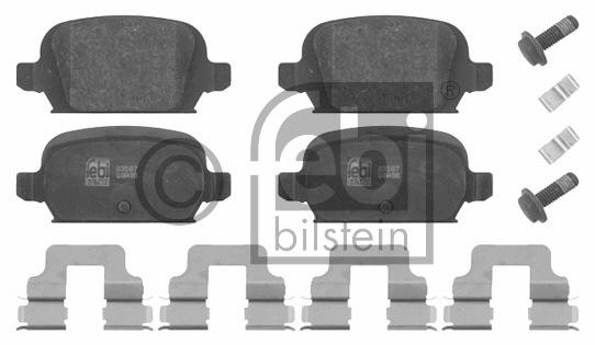 Kit de plaquettes de frein, frein à disque - FEBI BILSTEIN - 16626