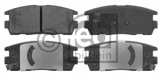 Kit de plaquettes de frein, frein à disque - FEBI BILSTEIN - 16631