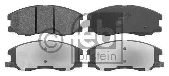 Kit de plaquettes de frein, frein à disque - FEBI BILSTEIN - 16632