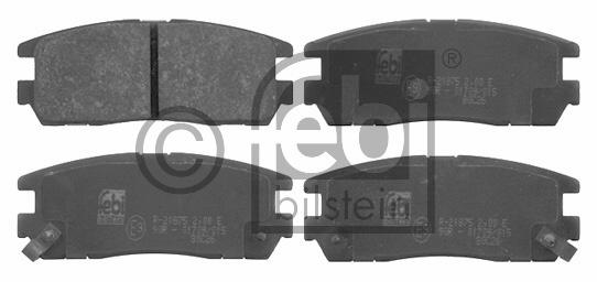 Kit de plaquettes de frein, frein à disque - FEBI BILSTEIN - 16641