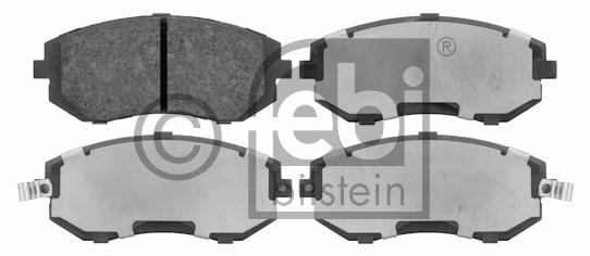 Kit de plaquettes de frein, frein à disque - FEBI BILSTEIN - 16643