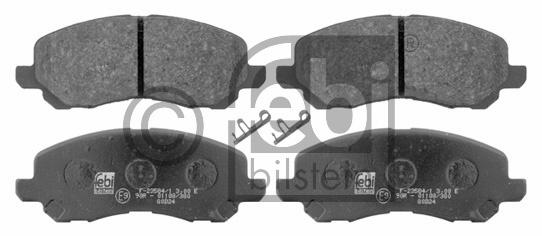 Kit de plaquettes de frein, frein à disque - FEBI BILSTEIN - 16644