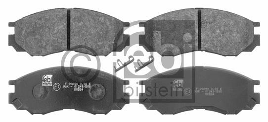Kit de plaquettes de frein, frein à disque - FEBI BILSTEIN - 16645