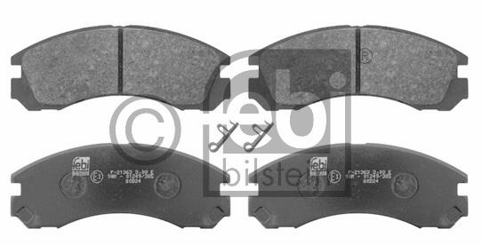 Kit de plaquettes de frein, frein à disque - FEBI BILSTEIN - 16646