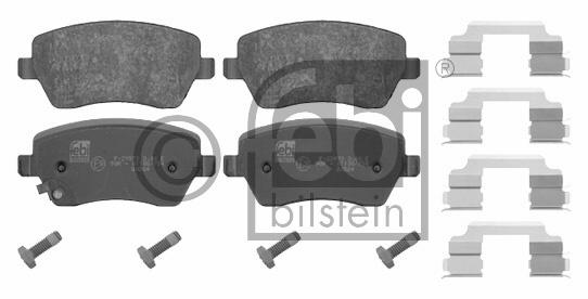 Kit de plaquettes de frein, frein à disque - FEBI BILSTEIN - 16649