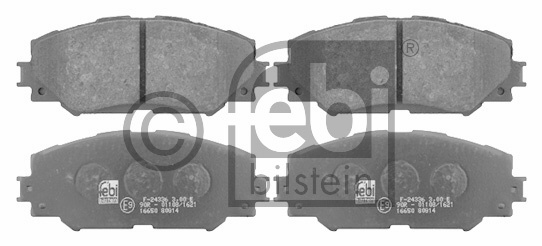 Kit de plaquettes de frein, frein à disque - FEBI BILSTEIN - 16650