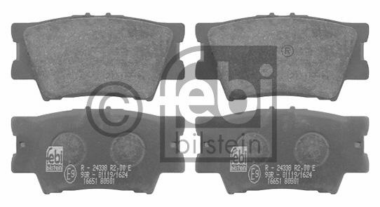 Kit de plaquettes de frein, frein à disque - FEBI BILSTEIN - 16651