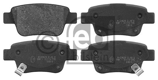 Kit de plaquettes de frein, frein à disque - FEBI BILSTEIN - 16652