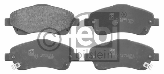 Kit de plaquettes de frein, frein à disque - FEBI BILSTEIN - 16653