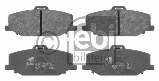 Kit de plaquettes de frein, frein à disque - FEBI BILSTEIN - 16655