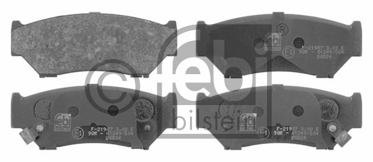 Kit de plaquettes de frein, frein à disque - FEBI BILSTEIN - 16657