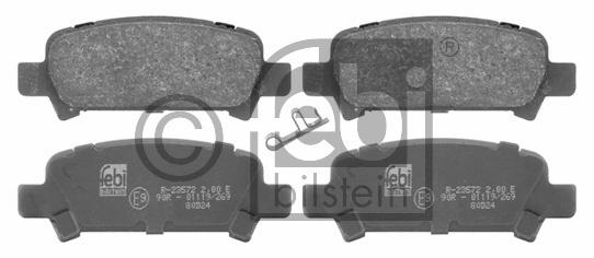 Kit de plaquettes de frein, frein à disque - FEBI BILSTEIN - 16659