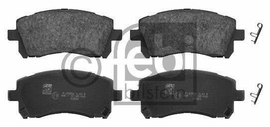 Kit de plaquettes de frein, frein à disque - FEBI BILSTEIN - 16660