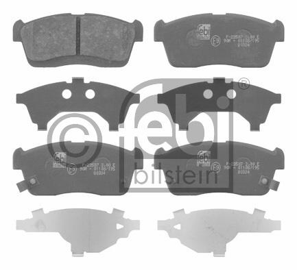 Kit de plaquettes de frein, frein à disque - FEBI BILSTEIN - 16662