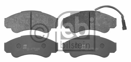 Kit de plaquettes de frein, frein à disque - FEBI BILSTEIN - 16663