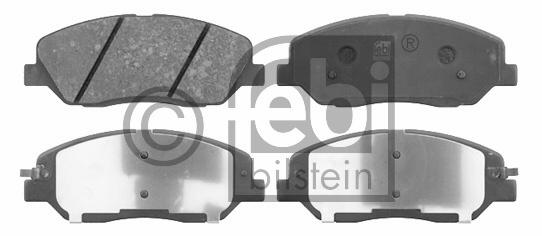 Kit de plaquettes de frein, frein à disque - FEBI BILSTEIN - 16667