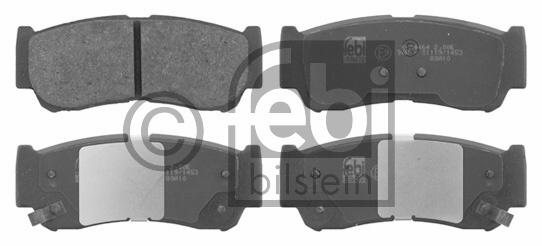 Kit de plaquettes de frein, frein à disque - FEBI BILSTEIN - 16668