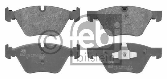Kit de plaquettes de frein, frein à disque - FEBI BILSTEIN - 16670