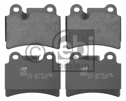 Kit de plaquettes de frein, frein à disque - FEBI BILSTEIN - 16671