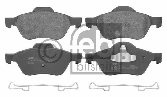 Kit de plaquettes de frein, frein à disque - FEBI BILSTEIN - 16672