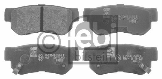 Kit de plaquettes de frein, frein à disque - FEBI BILSTEIN - 16674