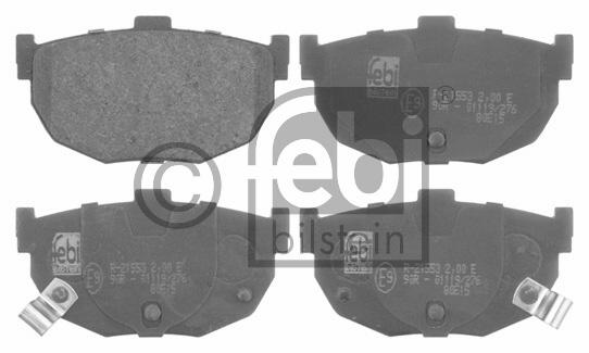 Kit de plaquettes de frein, frein à disque - FEBI BILSTEIN - 16676