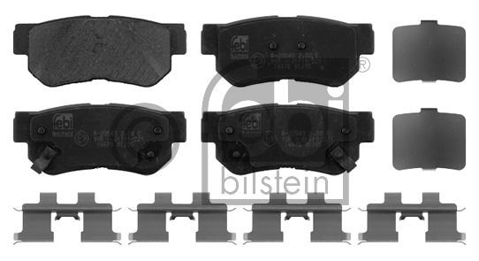 Kit de plaquettes de frein, frein à disque - FEBI BILSTEIN - 16678
