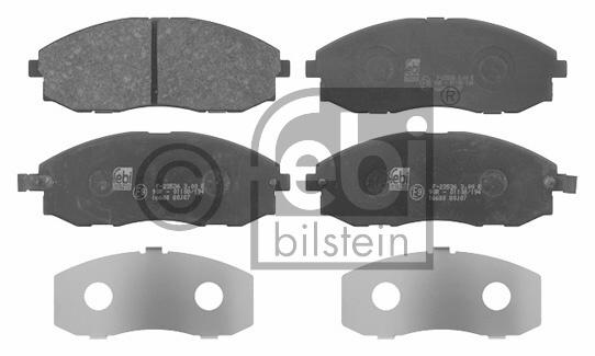 Kit de plaquettes de frein, frein à disque - FEBI BILSTEIN - 16680