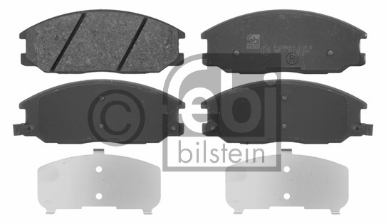 Kit de plaquettes de frein, frein à disque - FEBI BILSTEIN - 16682