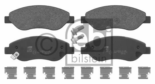 Kit de plaquettes de frein, frein à disque - FEBI BILSTEIN - 16698